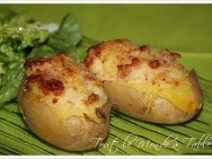 Pommes de terre farcies au chèvre et aux lardons, Recette Ptitchef
