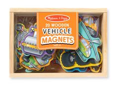 Wooden Vehicle Magnets Vehicles