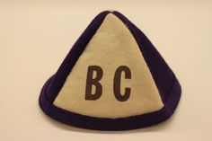 """Purple and white beanie marked """"BC. White Beanies, Pot Holders, Purple, Hot Pads, Potholders, Viola"""