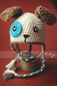 Free Crochet Pattern - Crochet Puppy Hat