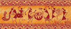Dancing Warlis by Subhash Limaye