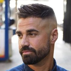Side Swept Ivy League Haircut - Best Men's Hairstyles: Cool Haircuts For Men. Most Popular Short, Medium and Long Hairstyles For Guys Mens Hairstyles With Beard, Cool Hairstyles For Men, Cool Mens Haircuts, Popular Haircuts, Hairstyles Haircuts, Haircuts With Beards, Mens Short Messy Hairstyles, Hairstyle Ideas, Barber Haircuts