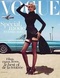 Lara Stone on the cover of Vogue Paris, 2011