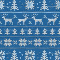 Seamless pattern with classical sweater design — Stock Illustration #33098403