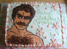 Tom Selleck cake made by Alicia Traveria of AliciaPolicia.blogspot, for her friend Emma's birthday (© 2008).