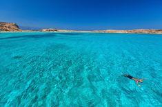 A beach on the island of Pano Koufonisi, Greece