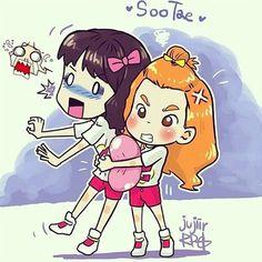 SooTae Balloon fanart by Jujiir RPG #Sooyoung #Taeyeon @GGWT