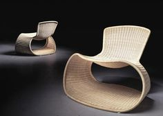 Sari Chair designed by Roderick Vos for Driade from Domus. This product can be found in the photography from the Rewoven Collection.
