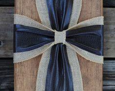 Arpillera rústica Cruz muestra de madera por simpleandsage en Etsy