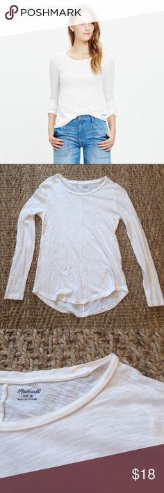 "Madewell Open Stitch Long Sleeve EUC | 100% preshrunk Cotton | Super soft | Open stitching on seams with line stitching down back | TTS length:24"" chest: 16-20"" Madewell Tops Tees - Long Sleeve"