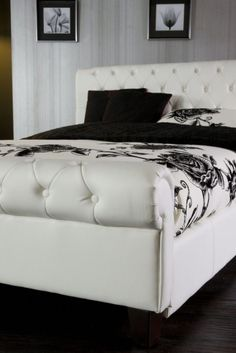 King Size White Leather Bed Frames