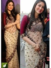 Kareena Kapoor Off-White Saree 39156