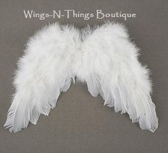 FEATHER ANGEL WINGS w/ elastic straps Children's by wingsnthings13