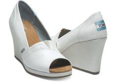 Bride Shoes  Ivory Glitter Women's Wedges hero