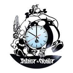 Asterix and Obelix Handmade Vinyl Record Wall Clock Fan Gift - VINYL CLOCKS