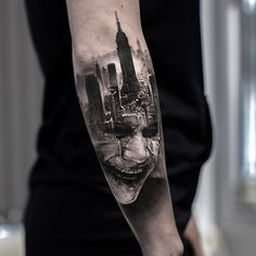 Joker tattoo by Adrian Lindell