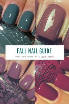 Believe it or not, fall is in full-swing. The kids are back in school, work is picking up and we're getting crowded with people wanting their new fall look! Check out our favorite fall nail colors and schedule your appointment soon (: #thatsthebeautyofit