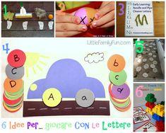6 idee prese in rete per...giocare con le lettere