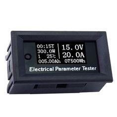 100 V/20A OLED 7w1 Wielofunkcyjny Tester Napięcia Aktualny Czas Temperatura Pojemności Miernik Woltomierz Amperomierz Parametry Elektryczne