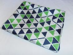 mod geometric in navy and lime...vintage polyester bemsilk lining fabric