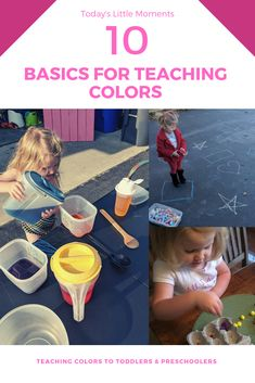 Teaching colors to toddlers and preschoolers does not have to be hard. Here are 10 basic ways to help them understan d and build on color concepts through play and activities! Activities For 1 Year Olds, Activities To Do, Kindergarten Activities, Educational Activities, Teaching Colors, Toddler Preschool, Preschool Ideas, Creative Play, Kids Corner
