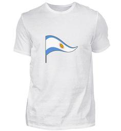 Flagge, Fahne. Land. Argentinien T-Shirt Basic Shirts, Flag, Argentina