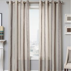 Add a pop of color to your living room or master suite with this lovely curtain, showcasing a subtle geometric design and slate hue.