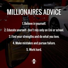 Millionaires advice! For more powerful insights visit our website! #workhard #playhard #eandlglobalcomm I like that!