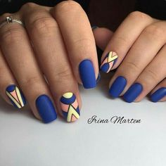 17 awesome geometric nail art designs you will fall in love with - bright summer geometric nails Gorgeous Nails, Love Nails, My Nails, Geometric Nail Art, Nagellack Trends, Instagram Nails, Orange Nails, Nagel Gel, Manicure And Pedicure