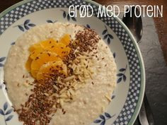 Oatmeal made with protein powder