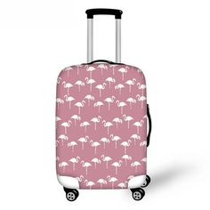 Fashion Travel Dachshund /& Chips Pink Luggage Suitcase Protector Washable Baggage Covers