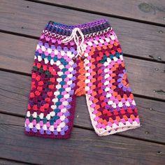 Pantalones de lunares  Crochet funky Lunaress por Lunaress en Etsy