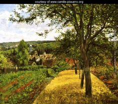 Orchards at Louveciennes -   Camille Pissarro