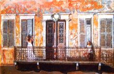 Artodyssey: Smaragda Papoulia - Emerald Papoulia-Vasilakoudi - Παπούλια Σμαράγδα Greek Paintings, Mediterranean Art, 10 Picture, Greek Art, Fresco, Folk, Illustration, Pictures, Artists