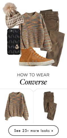 """End of fall"" by the-indie-rock-queen on Polyvore featuring Wrap, Converse and OtterBox"