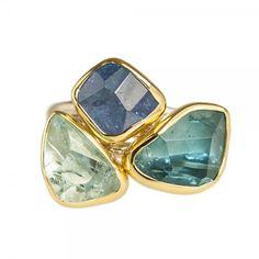 Blue Gemstone Ring by Margoni