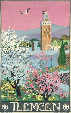 256: Original 1929 Plakat Poster Algeria Tlemcen