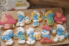 www.facebook.com/kokomacake? Galletas Cookies, Cute Cookies, Brownie Cookies, Sugar Cookies, Cookie Box, Cookie Icing, Gingerbread Icing, Candy Table, 3rd Birthday Parties
