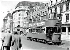 London Trams. A tram on Westminster Bridge Road in London in 1952. BBC News