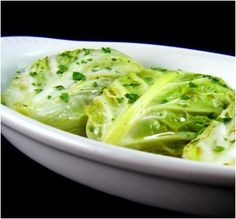 Summer Cabbage Rolls with Leeks, Mushrooms and Slivered Almonds