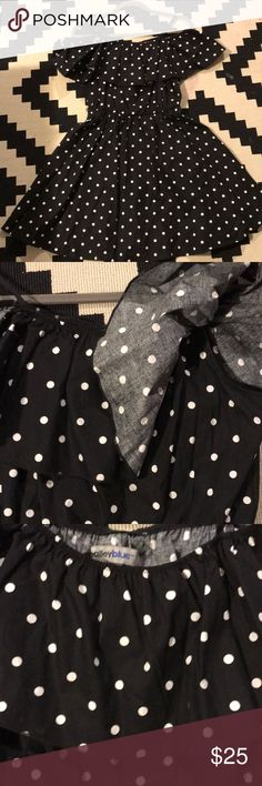 Polka dot Cotton ots dress Super cute and on trend for this summer! Never worn! bailey blue Dresses
