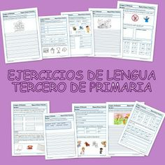 Ejercicios de lengua para Tercero de Primaria