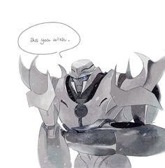 I can really imagine him saying this.. we are indeed speaking of megatronus in this picture after all back in his gladiator years. If you think about it, it's expected.