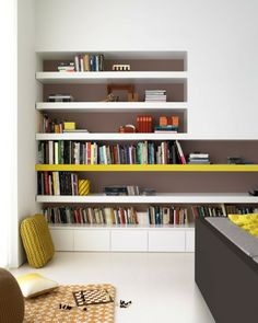 A good idea for my next deco Living Room Inspiration, Interior Inspiration, Colour Inspiration, Custom Furniture, Furniture Design, Bookcase Shelves, Home And Living, Family Room, Dresser