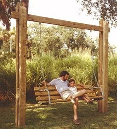 outdoor swing support - Google Search