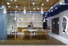 Un original restaurante. The Fish Market, un mercado de pescado en Chipre.  Un nuevo proyecto del diseñador e interiorista Minas Kosmidis.  #retail