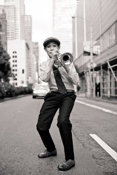 Gabriel Angelo, 12, plays on the streets of San Francisco to pay for his music education at San Francisco Conservatory and JazzSchool - good for him!