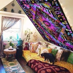 Purple college room tie dye tapestry Sun and moon tapestry wall hangings – Top Trend – Decor – Life Style Sun And Moon Tapestry, Bohemian Wall Tapestry, Tapestry Bedroom, Mandala Tapestry, Purple Tapestry, Colorful Tapestry, Tapestry Wall Hanging, Psychedelic Tapestry, Dorm Tapestry