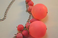 Hollow bead necklace by Bits of Clay, via Flickr