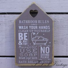 Shabby-Chic-Wooden-Signs-Humorous-Home-Kitchen-Garden-Friend-Toilet-Rules-Gift